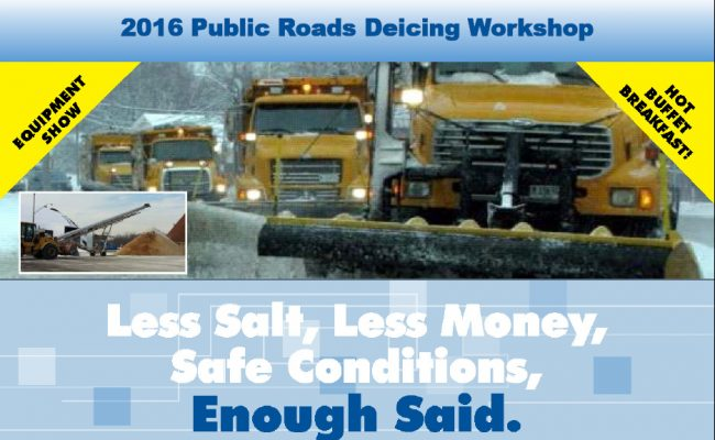 Don't miss out on our upcoming Deicing Workshops!